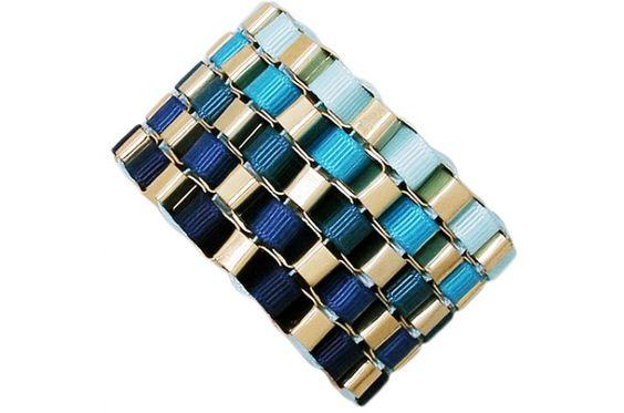 Sweet Caroline - Chain Letter Ribbon Bracelet {Four Color Options}