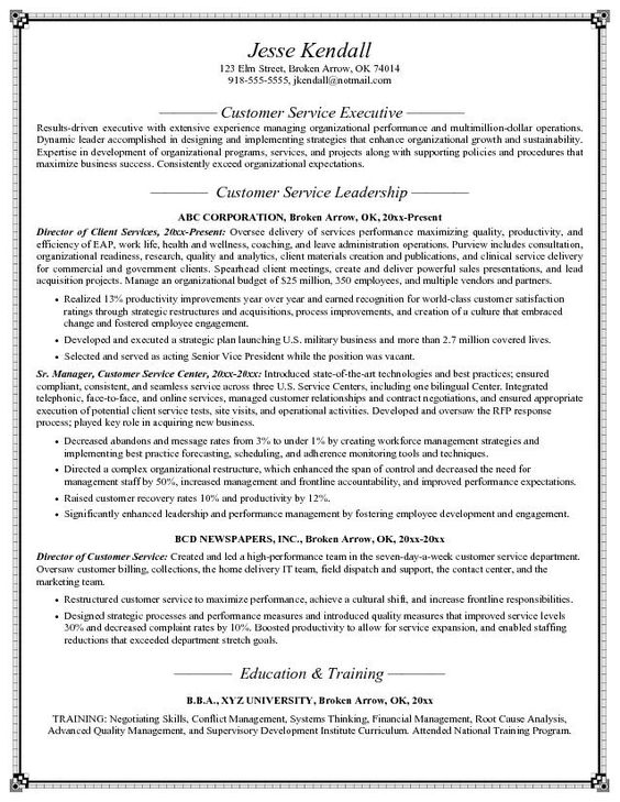 Customer Service Resume Objective  HttpTopresumeInfoCustomer