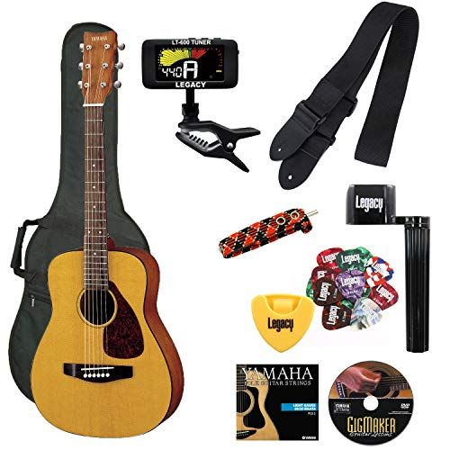 Yamaha Jr1 Fg Junior 3 4 Size Acoustic Guitar With Gig Bag And Legacy Accessory Bundle Acoustic Guitar Accessories Kids Acoustic Guitar Yamaha Guitar