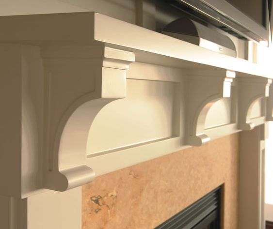 images white fireplace mantels with corbels Kitchen Details