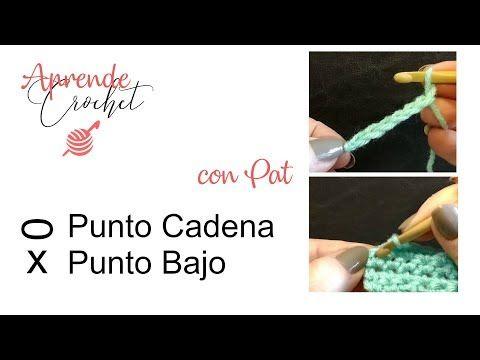 Curso Gratis Online De Crochet Cómo Tejer El Medio Punto O Punto Bajo Punto Cadena Aprender Crochet Croché