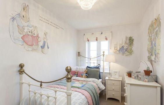 Interior Designed Peter Rabbit Beatrix Potter Themed Bedroom Nursery Room David Wilson Homes Staffordshire Ideas For My Darling Pinterest