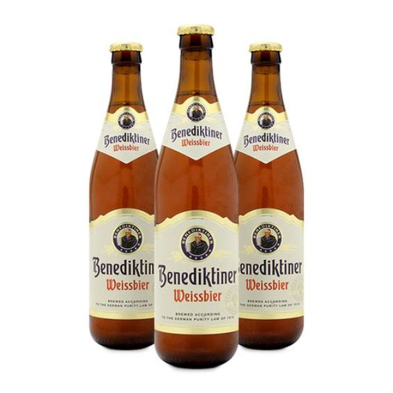 Bia Benediktiner 5,4% - Chai 500ml - Bia Nhập Khẩu