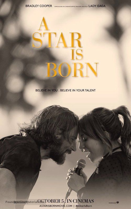 Movie Poster Image For A Star Is Born With Images A Star Is