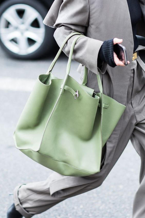 A gorgeous pop of green! #BagInspo