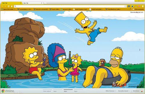 Simpsons google chrome theme: I love them so :-)) <3