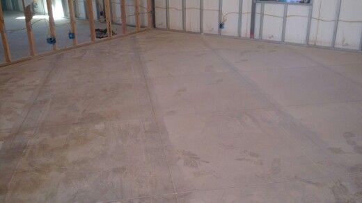 Concrete etched
