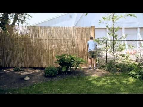 Ways to add privacy to a chain link fence.