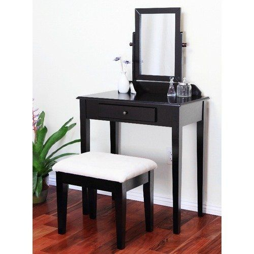 Mega Home Contemporary Vanity Set walmart Home Craft 3 Piece Vanity Set  Espresso Contemporary vanity. Makeup Vanity Table Walmart