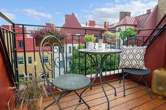 Mesa y sillas de hierro forjado para el balc n - Mesa colgante para balcon ...