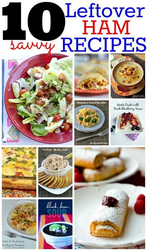 10 Savvy Leftover Ham Recipes