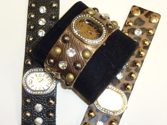 Leather Cuff Watch.