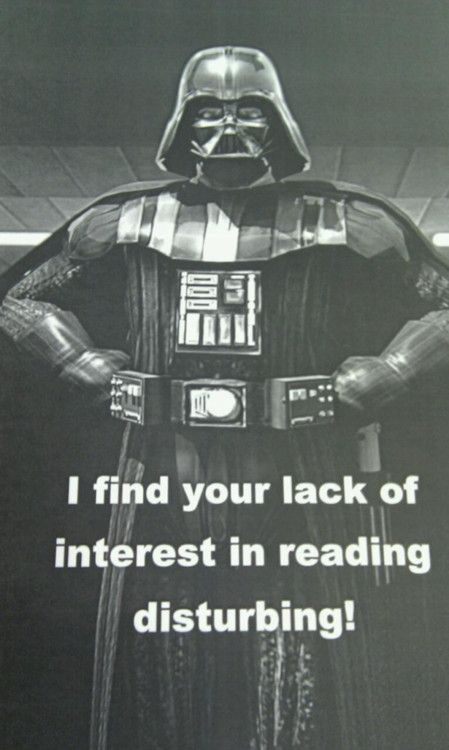 """I find your lack of interest in reading …disturbing!     You know I need to steal this """"saying"""" and make a poster with my clip art. Is that terrible? *goesofftolookandseeifthereisoneIcanbuy*"""