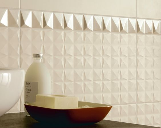 Absolute ceramic wall tile in Cream Cube http://www.pentalonline.com/ceramic.php