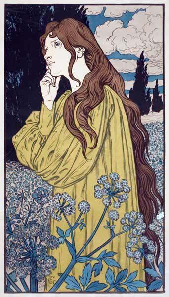 "lorpus: ""Meditation"" - Eugene Grasset, 1897:"