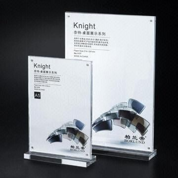 Acrylic table tent card frame, great for menu, any size available ...