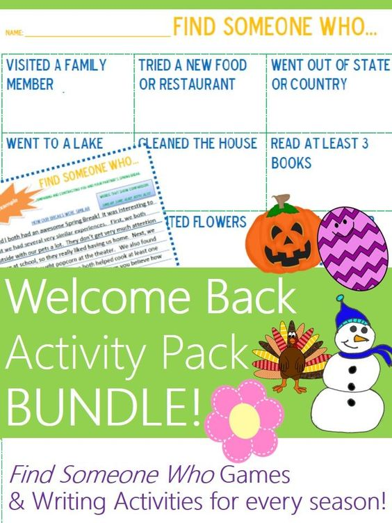 First Grade Back-to-School Activities for After the Christmas Break