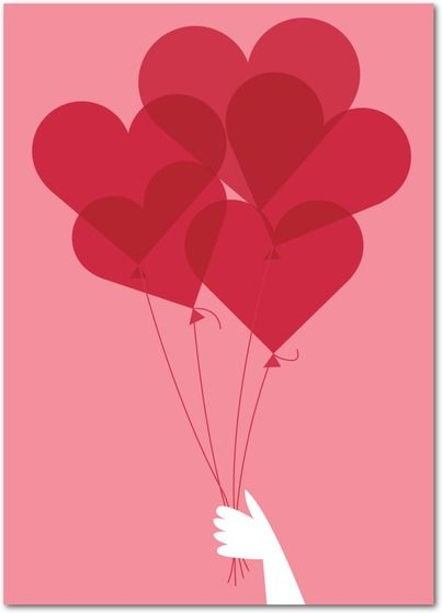 Love Floats - Valentine's Day Cards in Watermelon | Eleanor