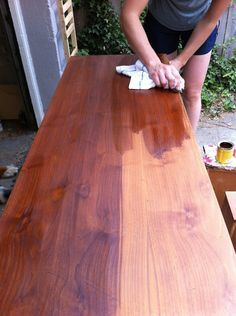 Stripping and staining a wooden dresser