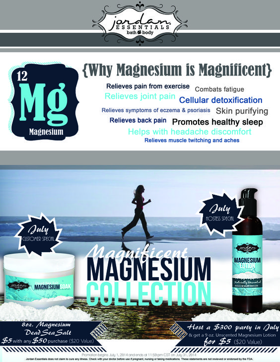 56% of the population is Magnesium deficient, and did you know...it's best absorbed topically! Take advantage of this great special while it lasts! Salts normally $20. (Magnesium lotion also available)