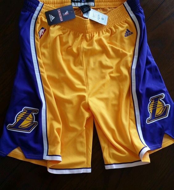 Mens NBA Adidas L.A. Lakers Gold Swingman Basketball