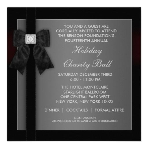 Formal Wedding Invitation Templates | Corporate Black Tie Event ...