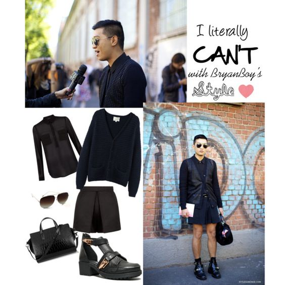 BryanBoy SS14 Milan by zooshoo on Polyvore featuring La Garçonne Moderne, Nature Breeze, Dita and Alexander Wang