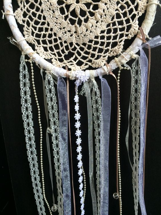 Doily dreamcatcher I made! Love making these!