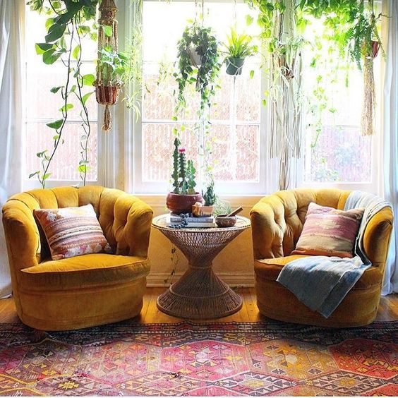 Mustard. Be-Still my beating heart. I would drift away from the rug but its got some awesome bohemian flair.