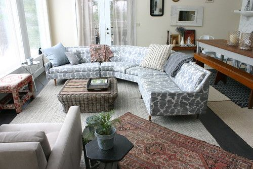 Sectional Couch Dividing Room From Table Good As A Seperation Between Kitchen Couch Eclectic Living Room Sofa Design Sofa Decor