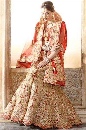 182497 Red and Maroon  color family Brides maid Lehenga, Wedding Lehngas in Net fabric with Border, Machine Embroidery, Patch, Stone, Thread, Zari work . Indian wardrobe.com - USD - $116.00