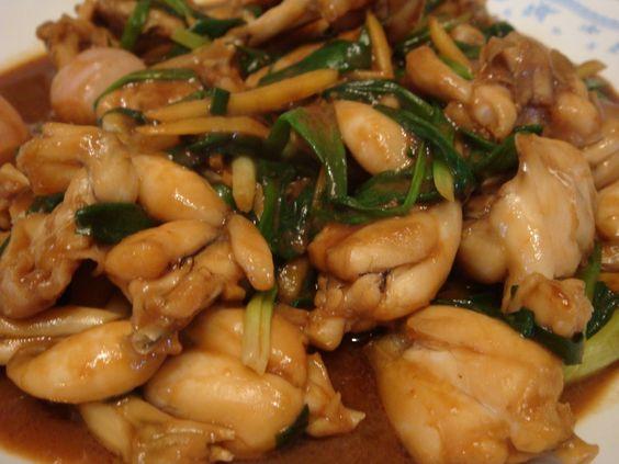 Pork spring onion ginger recipe