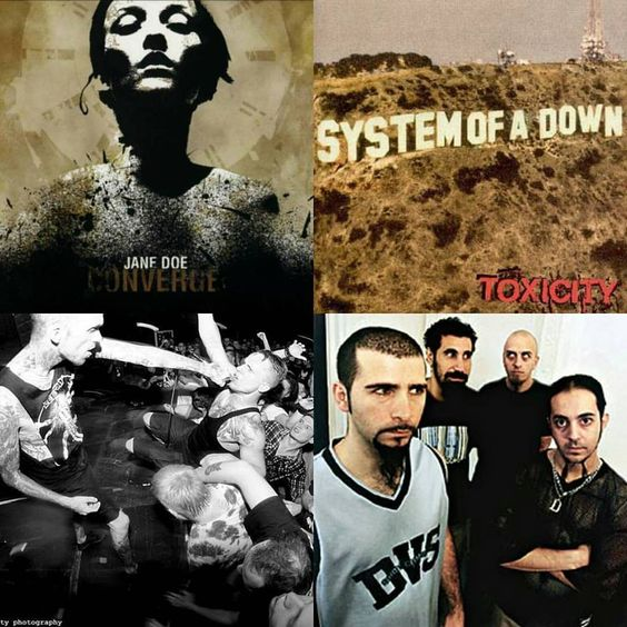 Happy 15th Birthday to two monumental albums from two bands that have had a profound impact on my love of music. #converge #janedoe #systemofadown #toxicity
