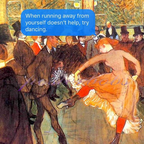 A group of people dancing in top 40 clubs is called a loneliness w/ #lautrec.