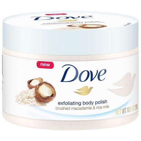 Dove Crushed Macadamia Rice Milk Exfoliating Body Polish Scrub