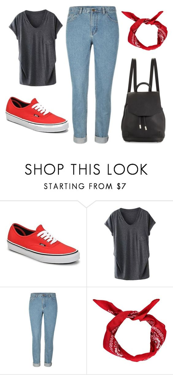 """""""Sin título #226"""" by cutegirl0130 ❤ liked on Polyvore featuring Vans, Boohoo and rag & bone"""