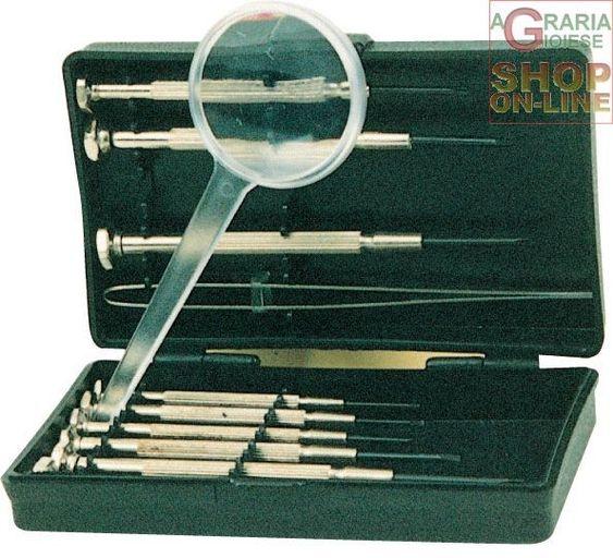 SERIE CACCIAVITI PER OROLOGIAIO CON LENTE DI INGRANDIMENTO http://www.decariashop.it/ferramenta-utensili-manuali/15107-serie-cacciaviti-per-orologiaio-con-lente-di-ingrandimento.html