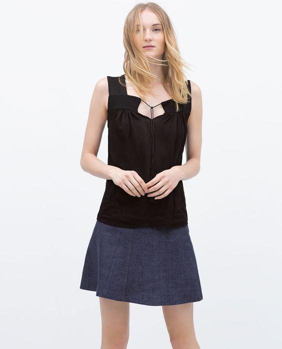 Bild 1 von Top im Boho-Stil von Zara