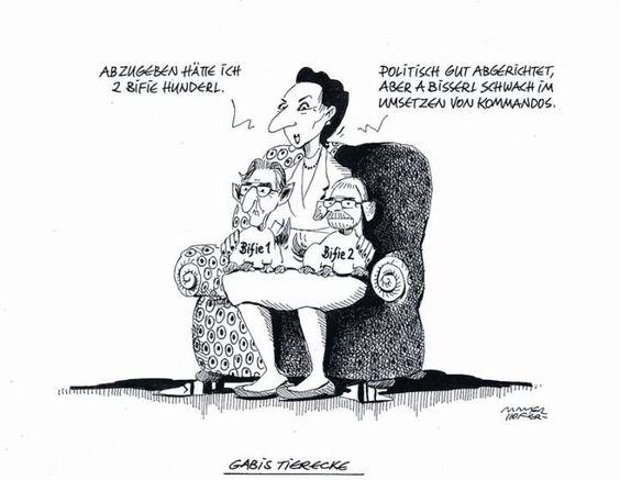"""OÖN-Karikatur vom 16. Mai 2014: """"Gabis Tierecke"""" Mehr Karikaturen auf: http://www.nachrichten.at/nachrichten/karikatur/cme1581,1058809 (Bild: Mayerhofer)"""