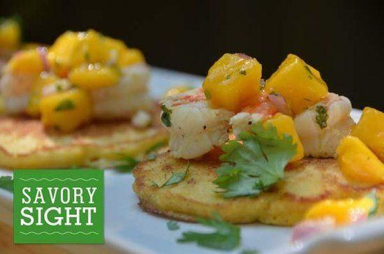 Corn Cakes With Tequila-Lime Shrimp
