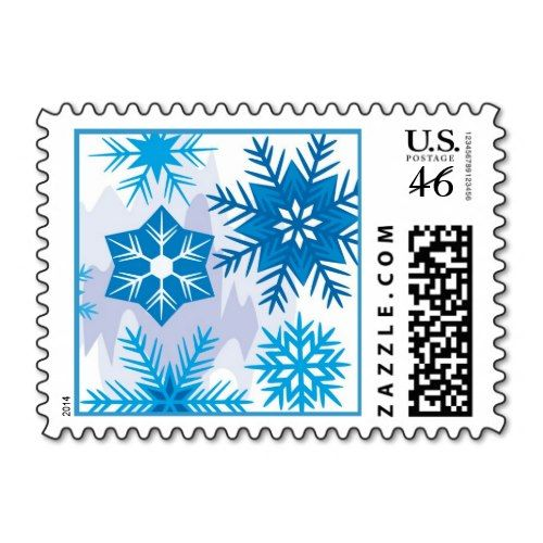 Snowflake Holiday Postage Stamps
