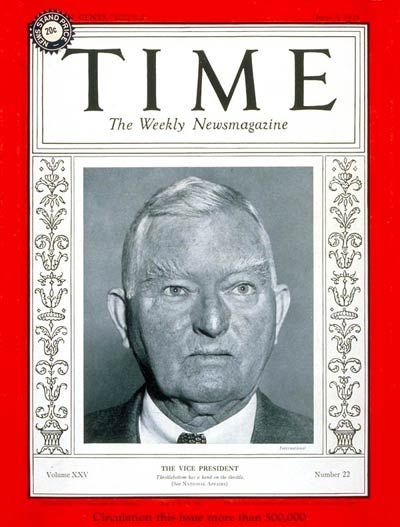 TIME Magazine Cover: John Nance Garner - June 3, 1935 - John Nance Garner - Vice Presidents - Politics - Democrats