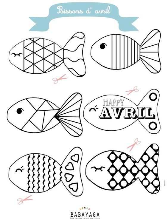 Diy des poissons des poissons des poissons - Coloriage de poisson ...