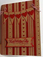 Heart banner Valentine card