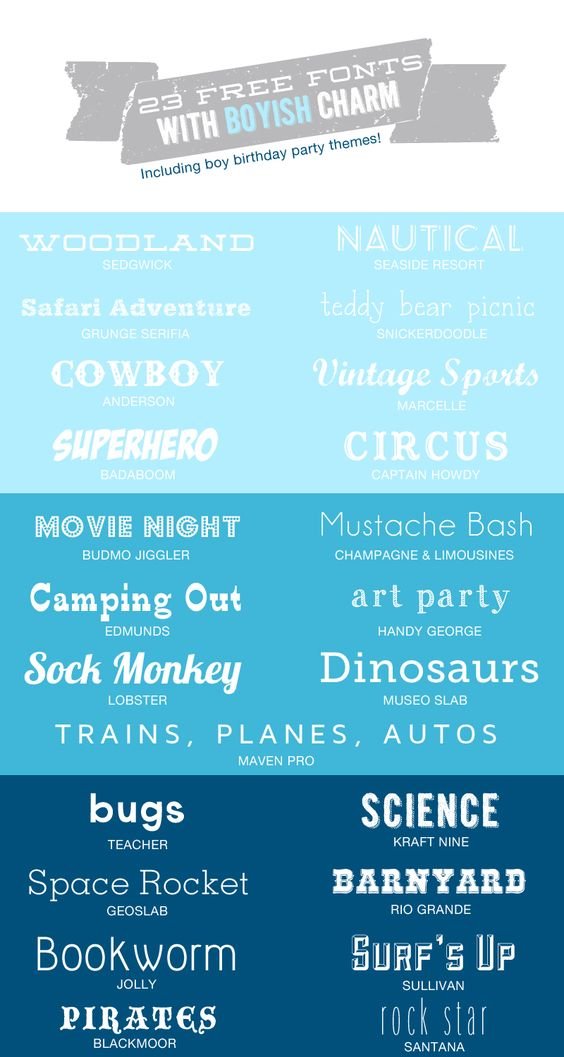 23 Free Fonts with Boyish Charm >> Hello Love Designs  ~~ {w/ easy download links} ~~