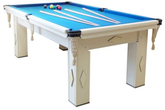 Venda Vista: Mesa de Snooker Residencial Branca - Em 6x de R$ 308,34 sem juros no cartão ou R$ 1757,50 a vista no boleto - https://www.vendavista.com.br/esportivo/snooker/mesa-de-snooker-c-pedra-de-ardosia-br-tc-azul.html