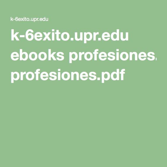 ebooks profesiones.pdf Spanish description of every job one could ever think of
