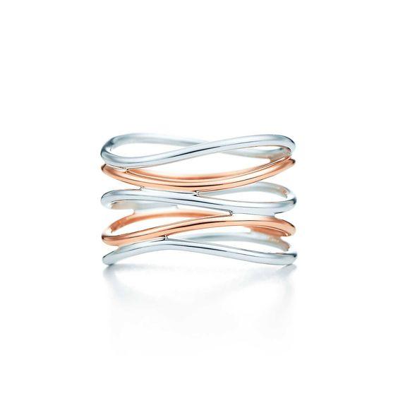 Tiffanys:Wave Five-row Ring