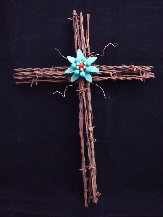 how to make barbed wire crosses