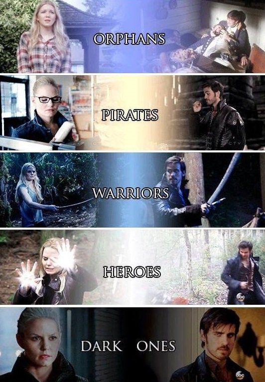 Orphans + Pirates + Warriors + Heroes + Dark Ones = #CaptainSwan ❤ #SaveHook #OnceUponATime #once #ouat